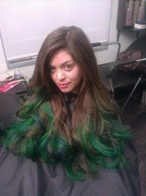 green and blue ombre | Ombre Hair Style | Pinterest | Blue ...