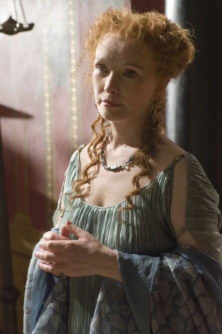 Caesar's lover in ROME ~ Servilia of the Junii, played by Lindsay Duncan