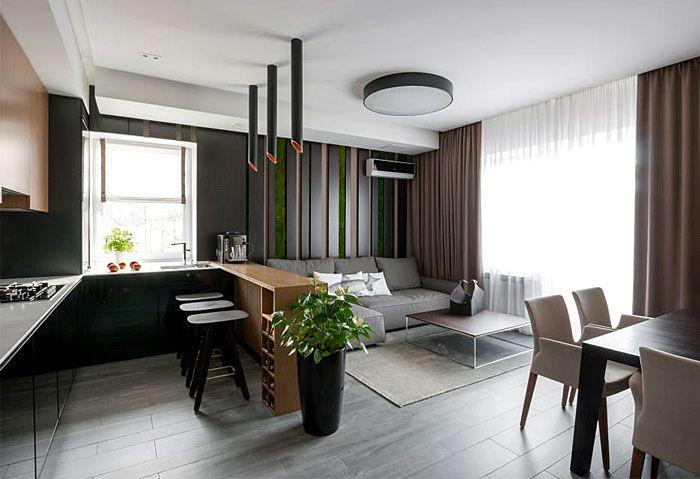 #smallspace #openplan #kitchen | Fresh Design of Modern Urban Apartment by SVOYA Studio