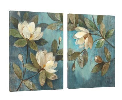 Canvas Floating Magnolias