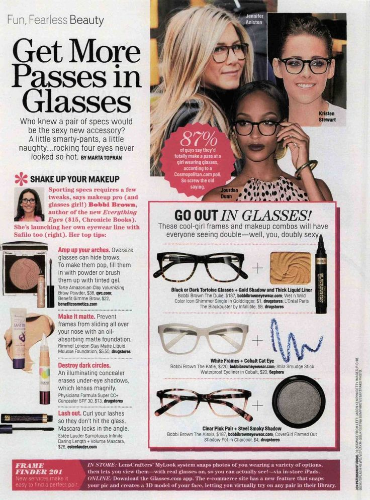 Cosmopolitan: Eye makeup for glasses Glasses