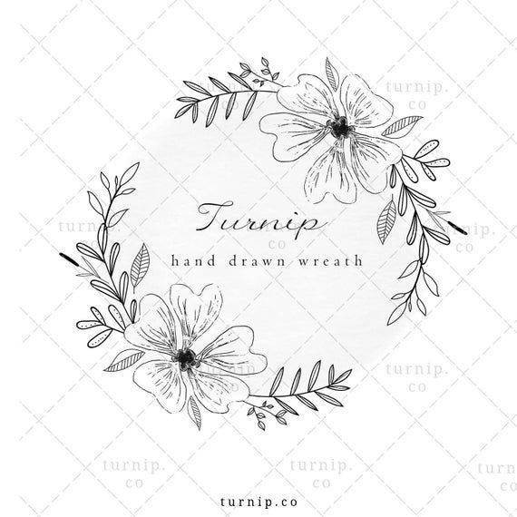 Floral Wreath Clipart Black And White Flower Clipart Leaf Wreath Clipart For Wedding Logo Coloring Pages Fairy Dance Wreath Png In 2021 Flower Clipart Clipart Black And White Clip Art
