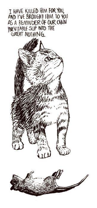 existential cat  @Bridgit Boggs: Cat Art, Kitty Cat, Cat Baby, Adorable Cat, Meow Cat, Cute Cat, Funny Stuff, Cartoon Motion, Baby Cat