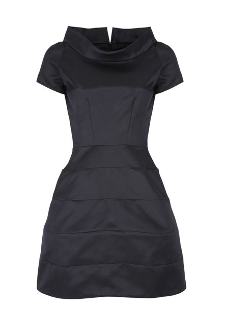 A modern dress with a standaway collar... They're really quite fetching.