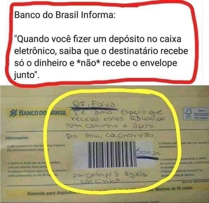 Banco do Brasil informa: – Humor Pirata | Memes engraçados, Pensamentos  engraçados, Meme engraçado