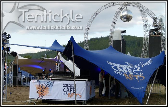 Branded bedouin stretch tent