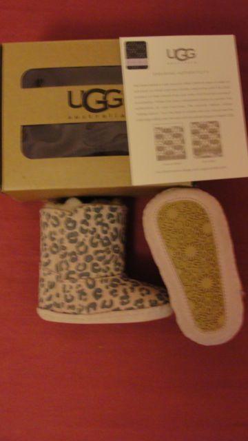 #BootsUggHub  #girl uggs,  NEW Ugg Australia Cassie Leopard Baby Girls Crib size UK2, EUR18 ,6-12 months | £0.99