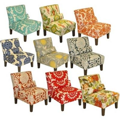 Love these printed chairs - can't believe they're from Target!