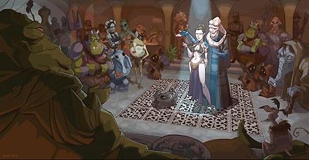 Star Wars - The Princess's New Clothes - Walt Disney Storybooks - World-Wide-Art.com - $95.00 #StarWars #Lucas