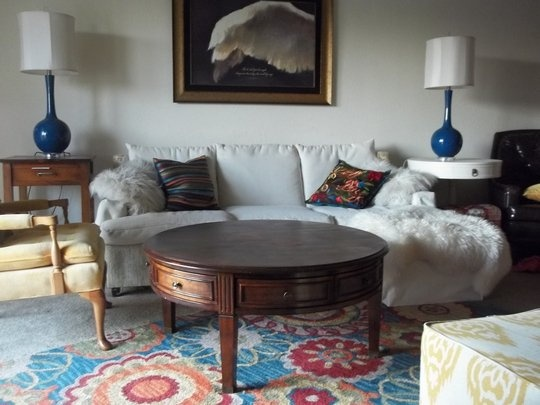 """Love this rug and the combination of prints.    Charisse's """"Primary Explosion"""" Room Room for Color Contest 