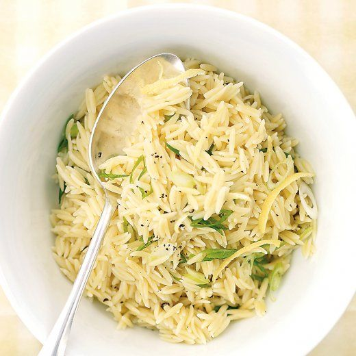 Lemony Orzo - Vegan. I have a box of orzo I don't know what to do with - must try this!