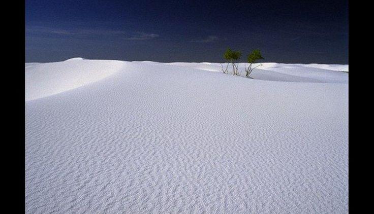 Las dunas de arena blanca en el Monumento Nacional de White Sands, en Nuevo México. (Foto: Cortesía Actualidad RT)