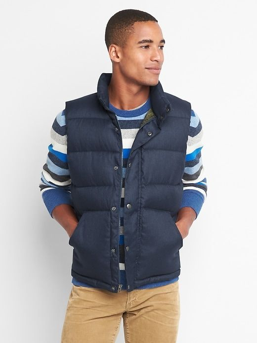 Navy Vests go with just about anything for guys
