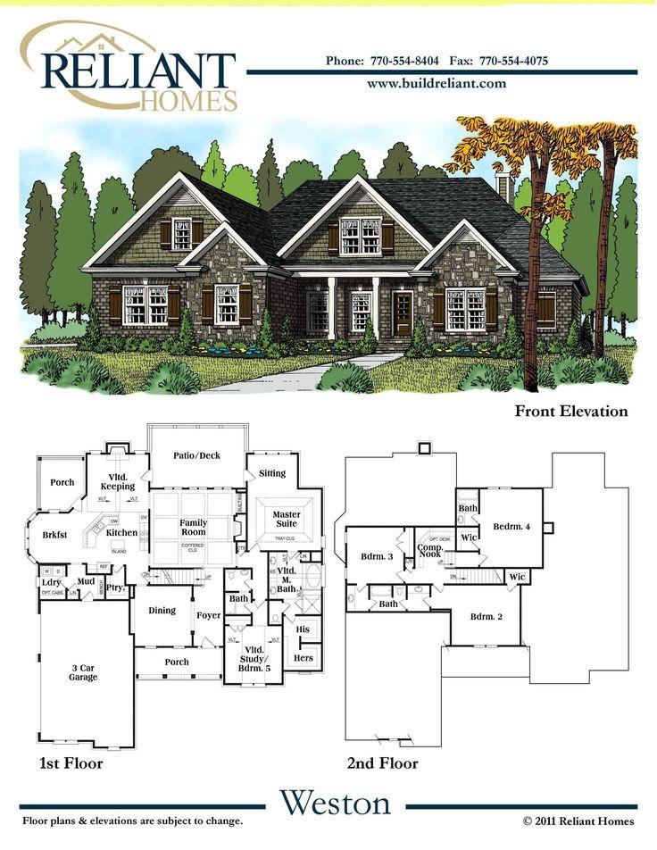 48 best reliant homes floorplans images on pinterest for Reliant homes floor plans