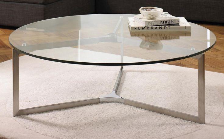 Circular Coffee Table Glass Top