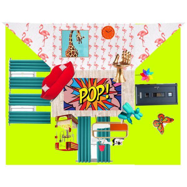 Habitación estilo pop