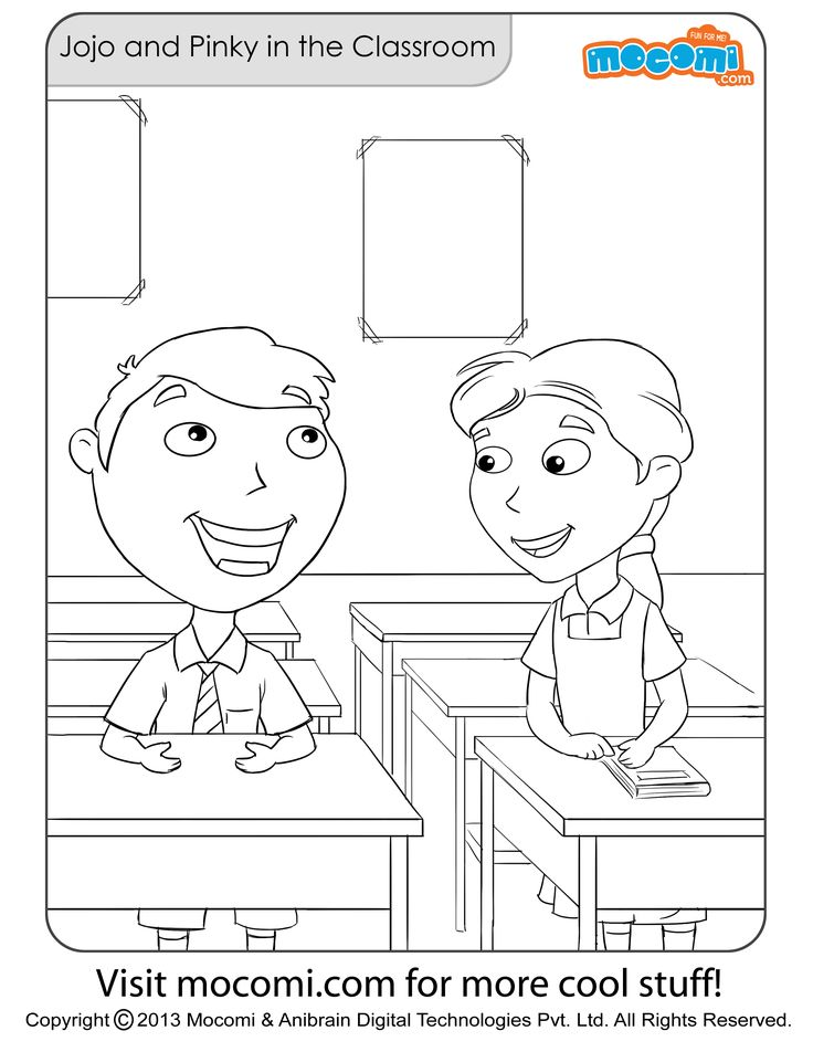 jojo and pinky in the classroom free printable online jojo colouringpage for kids free printable coloring pages for a variety of themes that y