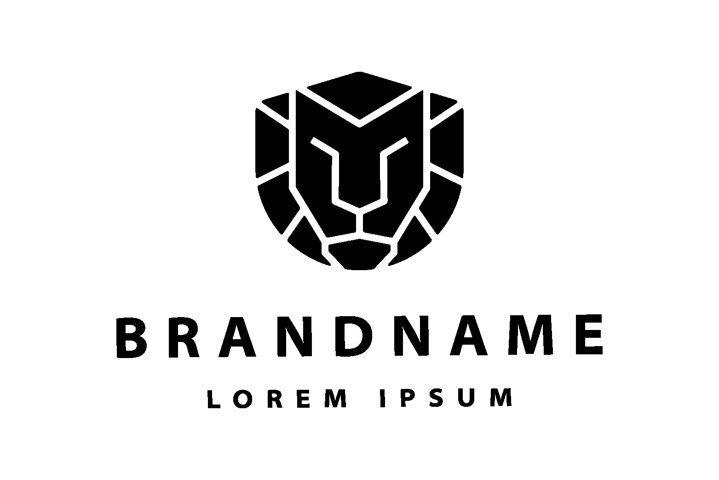 Simple Lion Logo Vector Design illustration (747580