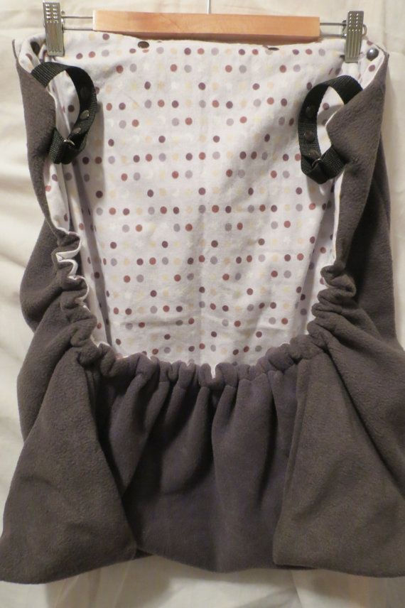 Baby Toddler COZY COVER dark grey fleece by LovetoLoveHomemade Hooded with pockets