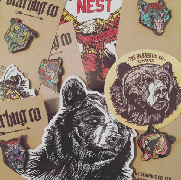 The Bearhug (Company) Ltd - Stickers and Enamel Pins