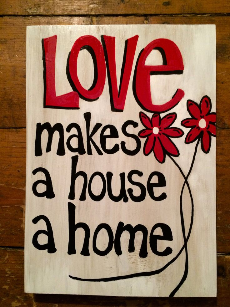 """Home accent piece- perfect gift for newlyweds, new home owners at Christmas-""""LOVE Makes a HOUSE a HOME"""" by expressionshop on Etsy"""