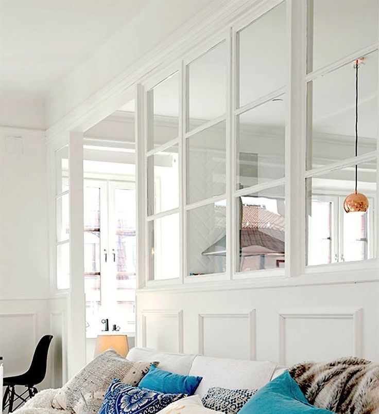 interior windows to divide space