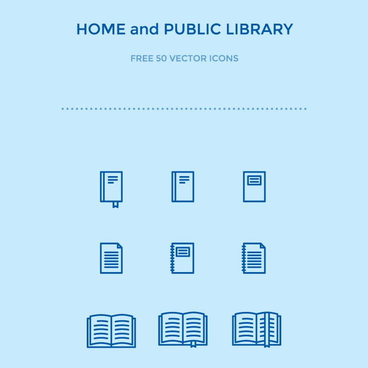 50 Free Home And Library Icons, #AI, #Free, #Graphic #