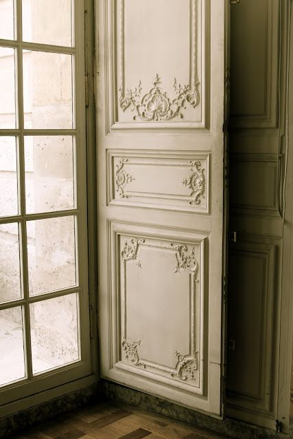 French doors with carved shutters for cottage or palace (Versailles)