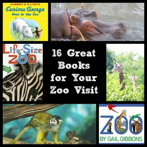 Great Zoo Books for Kids - 16 fun reads before your next trip to the zoo!  Connecting books to fun outings can be a great tool for identifying words during your visit.