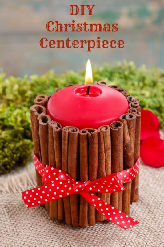 DIY Christmas Centerpiece and Place Setting. This is super easy to make!: