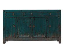 Aqua blue cabinet. Please visit our stores to see our current range.