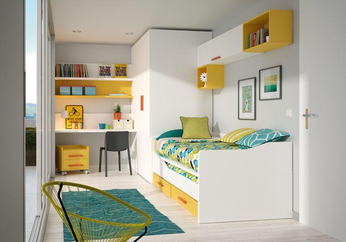 Dormitorio juvenil ringo de kibuc dormitorios para - Habitaciones de ninos pequenas ...