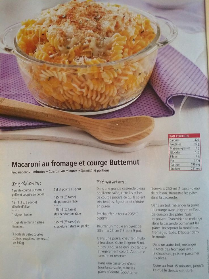 Macaroni au fromage et courge butternut