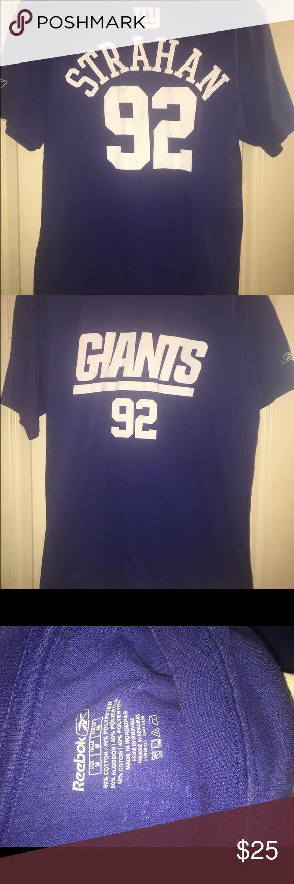 Men michael strahan New York giants tshirt tee m Men reebok michael strahan ny giants #92 size medium. Reebok Shirts Tees - Short Sleeve