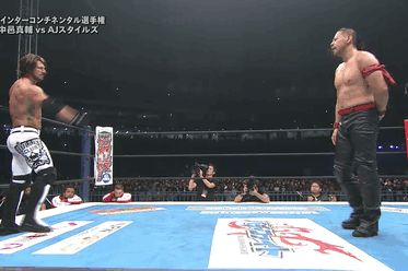 AJ Styles vs Shinsuke Nakamura at WrestleKingdom 10