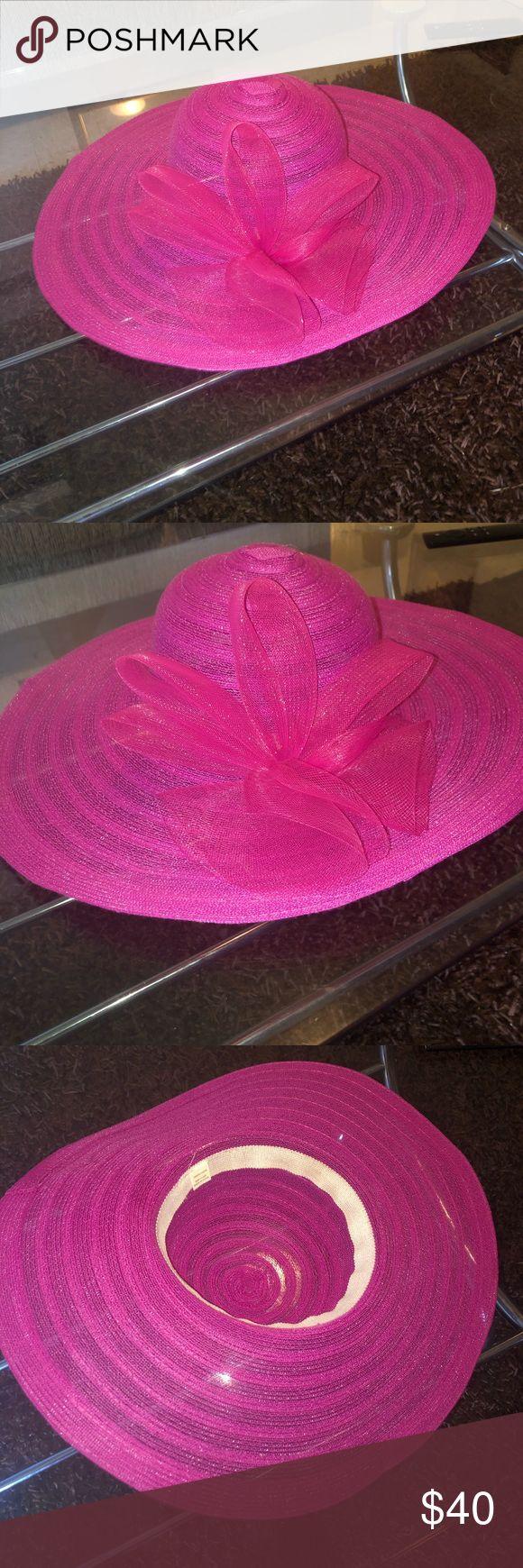 Women's Bright Pink Formal Wide Brim Church Hat Women's Bright Pink Form… – My Posh Closet