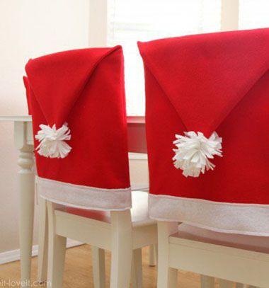 Santa hat chair covers // Mikulásos széktámla huzatok // Mindy - craft & DIY tutorial collection