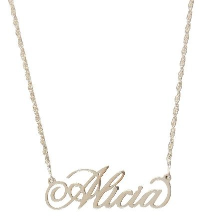 Monogrammed Filigrie Necklace | Gold Tone | Personalized Jewelry