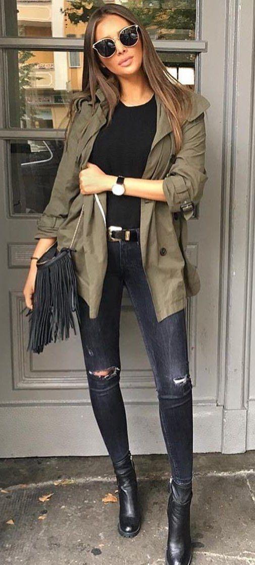 737ecac79 fall  outfits women s brown pea coat