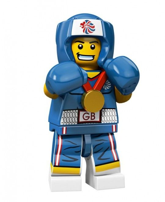 Brawny Boxer Team GB Olympic Minifigures All Minifigure packets will be opened to guarantee the correct Minifigure – Comes complete with opened packets leaflet and accessories