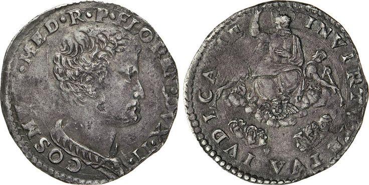 NumisBids: Numismatica Varesi s.a.s. Auction 65, Lot 318 : FIRENZE - COSIMO I DE' MEDICI (1537-1574) Lira da 20 Soldi s.d.,...