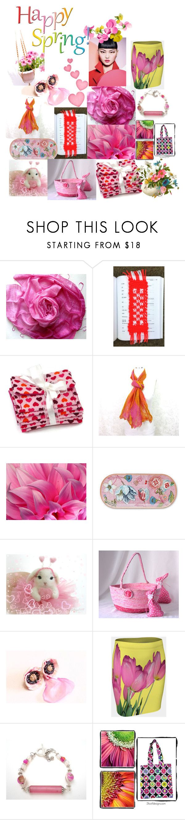 """""""Happy Spring"""" by anna-recycle ❤ liked on Polyvore featuring PiP Studio, modern, rustic and vintage"""