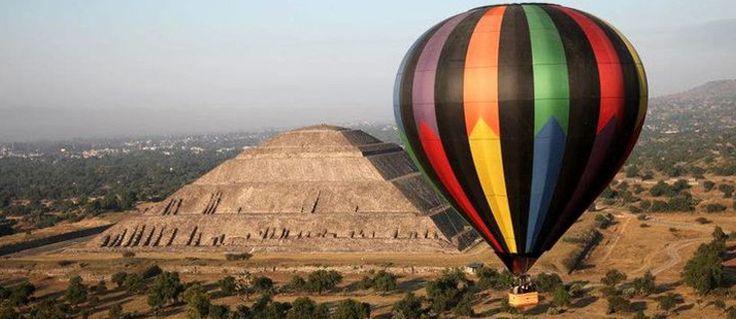 ¿Te fascinan las alturas? Viaja en globo aerostático sobre las pirámides de Teotihuacán