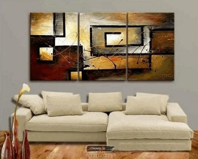 Abstract Painting, Canvas Painting, Living Room Wall Art ...