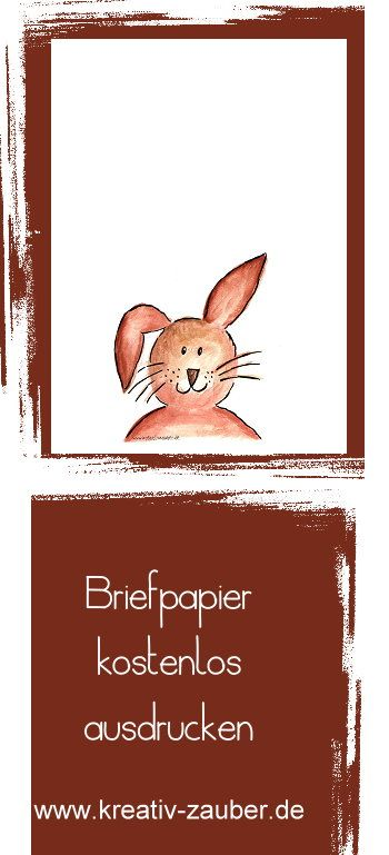 Hasenbriefpapier Kostenloses Briefpapier Pinterest Papier