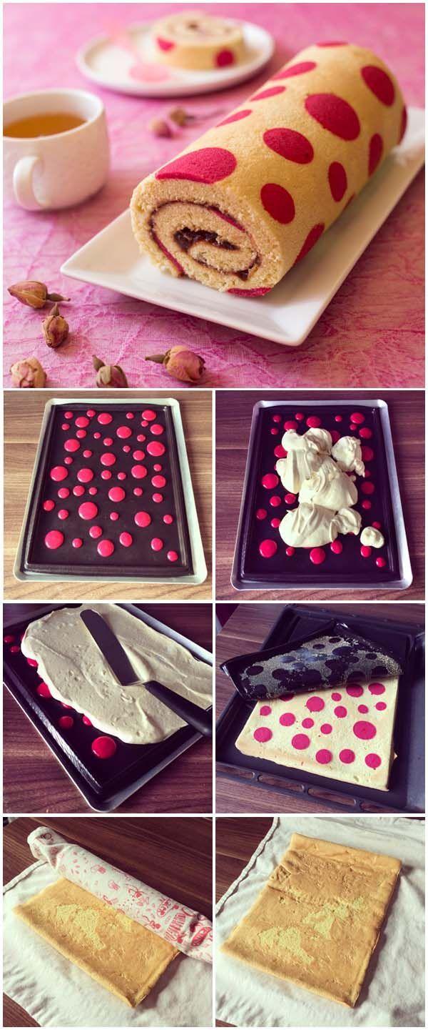 Gâteau roulé très et ses pois, on adore pour un gouter d'anniversaire :D #kiri #kids #food #party #birthday #anniversaire #gouter #snack #cute #cake