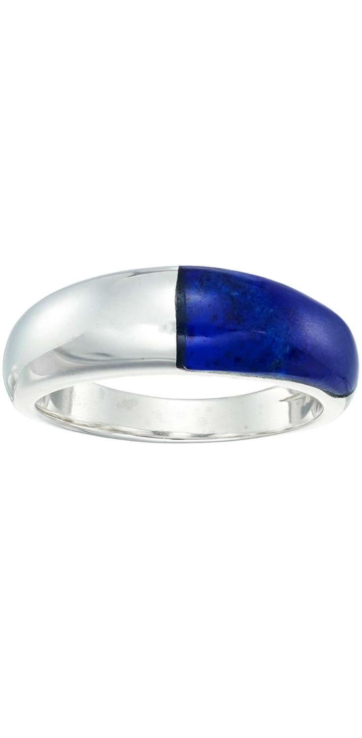 Ring remarkable.  Sound off in stunning style wearing the divine design of the #Shinola #Detroit Dome Crescent #Lapis Inlay #Ring.  #jewelry #rings
