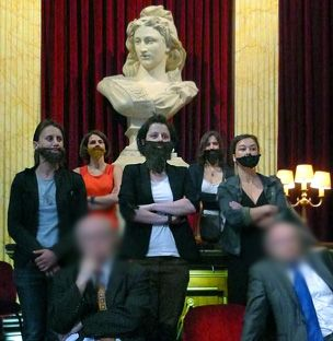 """2nd July, 2012 """"La Barbe: France's bearded feminists - A group of French feminists has found a new way to fight inequality - with sarcastic humour and fake beards. Only rarely is there a violent response..."""""""
