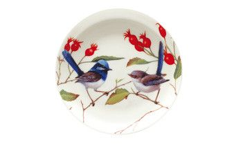 Maxwell & Williams. BIRDS OF AUSTRALIA by ERIC SHEPHERD. Coaster 10cm Blue Wrens Gift Boxed RRP: $6.95