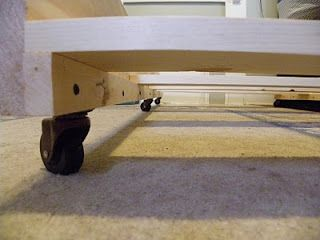 """This is the best trundle bed frame I've seen.  1x2 and 1x4s are cheaper than a $50 sheet of 3/4"""" plywood and will hold up better than MDF with no framing to hold up the middle from sagging."""